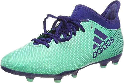 adidas X 17.3 FG J, Scarpe da Calcio Uomo, Multicolore (Aergrn/Uniink/Hiregr), 38 EU