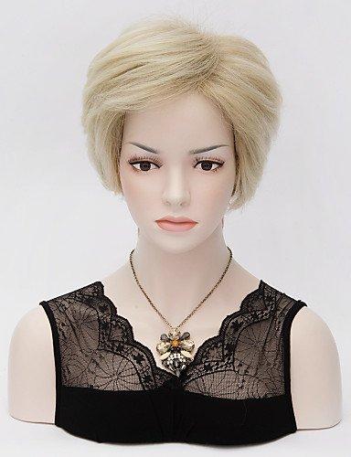 jiayy pelucas Llenas + Douille de la perruque du Anime Hommes de mode coréenne Europe court perruque du Parti Cosplay Cheveux Latium