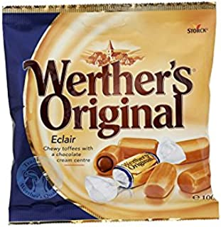 Werther's Original, Éclair, Chewy Toffees with a Chocolate Cream Centre, net weight 100 g (Pack of 2 pieces) / 8eststore by KK