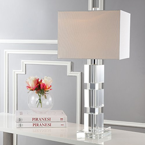 Safavieh Lighting Collection Ice Palace Crystal Cube 28-inch Table Lamp