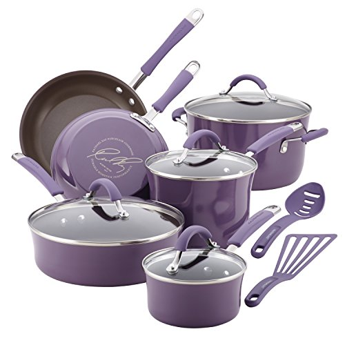 Rachael Ray Cucina Cookware Set in purple