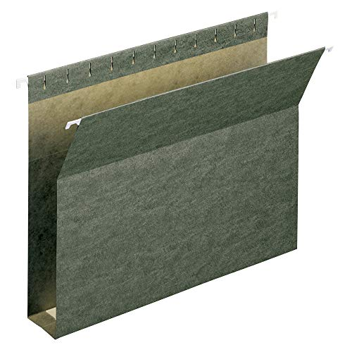 "Smead Box Bottom Hanging File Folder, 2"" Expansion, Letter Size, Standard Green, 25 per Box (64259)"