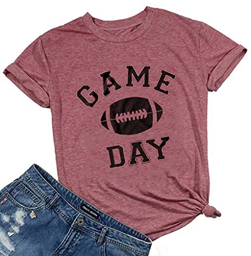 Game Day Football T Shirt for Women Football Season Graphic...