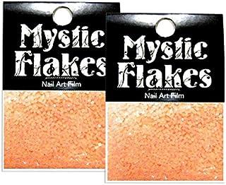 ミスティックフレース ネイル用ストーン ルミネオレンジ サークル 1mm 0.5g 2個セット