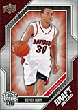 2009-10 Upper Deck Draft Edition - Steph Stephen Curry - Golden State Warriors NBA Basketball Rookie Card - RC Card #34