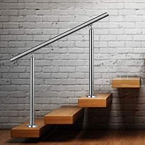 Recliner Treppenhandlauf Dekoration Veranda Handläufe Garten Anti-Rutsch-Handlauf für Treppengeländer im Innen- und Außenbereich, Höhe 85 cm, Silber
