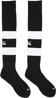 Canterbury, Hooped - Calcetines de rugby, color blanco negro y rojo