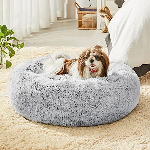 Western Home Faux Fur Dog Bed & Cat Bed, Original Calming...