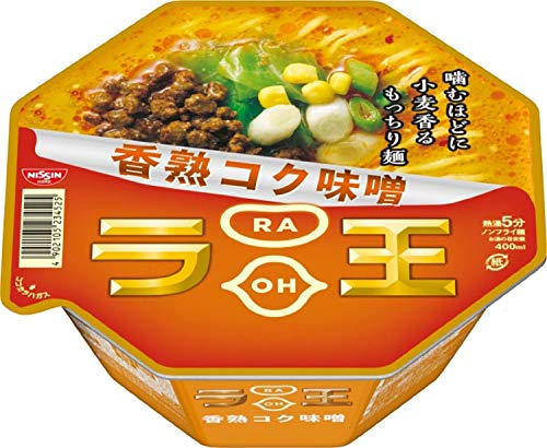 Nissin - Raoh, Japanese Instant Ramen Noodles, Miso Soup, 4.3oz X 6 Bowls (for 6 Servings)[Japan Import]