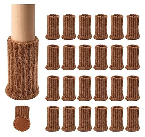sacfun 24 pcs Silla Calcetines de piernas Altas Protectores de Piso elástico Antideslizante Patas Patas Calcetines Cubre Tapas de Muebles Conjunto, diámetro en Forma de 1'a 2', Almohadillas de Mueble