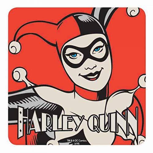 Véritable coaster de boissons de bandes dessinées Batman Harley Quinn Single Retro de DC Comics