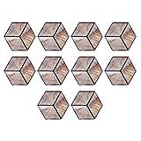 Adesivi per piastrelle, ceramica a grana di legno, forte adesione, materiale in PVC, imitazione esagonale con scanalature traspiranti, adesivo per pavimento antiscivolo impermeabile