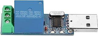 Jadpes USB Steuerrelaismodul, USB Relaismodul Serielle Steuerung PC USB Smart Control Einzelchip Computerschalter Tippbetrieb Selbsthemmend