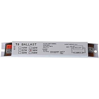 D/émarrage imm/édiat Ballast /électronique Flux T8 220-240 V AC 2 x 36 W /à Large Tension