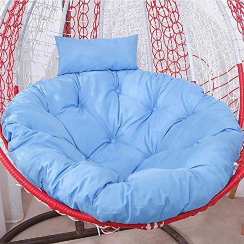 Yuany Hangende rotan schommelstoel kussen, eivormige stoel pads met armleuning buiten/binnentuin terras meubels (kleur: rood)