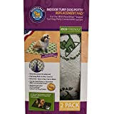 PoochPads Indoor Turf Dog Potty Replacement, Pack of 2, .44 LB