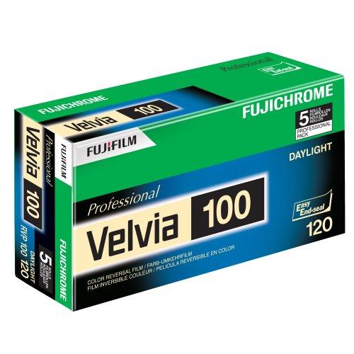 Fujifilm 16326107 Velvia 100 Dia-Farbfilm 120 (5er Pack)