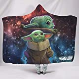 WJunglezhuang Mandalorian Baby Yoda Ultra Suave Material Suave Manta tamaño Queen para cama o sofá, poliéster, Blanco, 60x80 inch