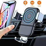 VANMASS Wireless Car Charger Mount, Automatic Clamping Gravity Sensor Car Phone Mount, 10W 7.5W Qi Fast Charging Air Vent Phone Holder Compatible with S10 S9 Note 10 9, Phone 11 Pro Max Xs XR X 8