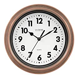 Lacrosse BBB85296 7 Inch Metal Copper Finish Quartz Wall Clock