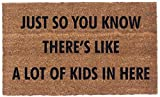 Coco Mats 'N More Front Door Mat Outdoor - A Lot of Kids (18Lx30W)| Durable Entry Mat Uses Natural Coir to Scrape Dirtiest Shoes | A Humorous Welcome to Your Guests