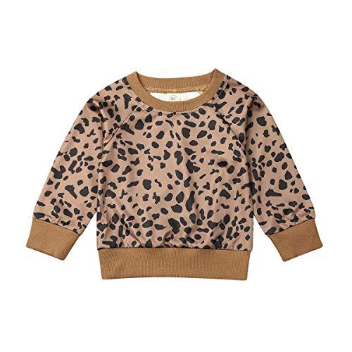 Hnyenmcko Peuter Kids Baby Meisje Lange Mouw Luipaard Tops Sweatshirt Blouse Pullover Herfst Outfit Casual Kinderen Kleding
