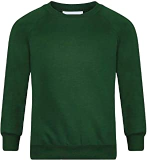 Mens Boys Jumper Sweatshirt Adult Crew Round Neck Sports School Uniform PE Top 2-13 Years Small/X Large