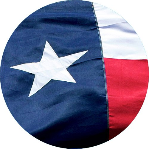 Texas State Flag 4x6 - 100% Made In USA using Tough, Long Lasting Nylon Built for Outdoor Use, Protected and Featuring A Bright Appliquéd Star and Sewn Using Superior Quadruple Stitching on Fly End