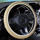 Leather Car Steering Wheel Cover, Elastic,...