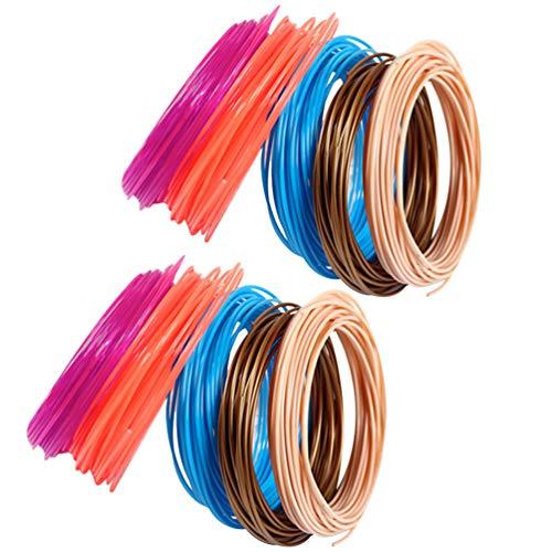 ULTECHNOVO 10 Rolls 3D Pen PLA Filament Refills for 3D Printer ABS Printer Refill Pack 3D Printer Accessories 1.7mm (Random Color)
