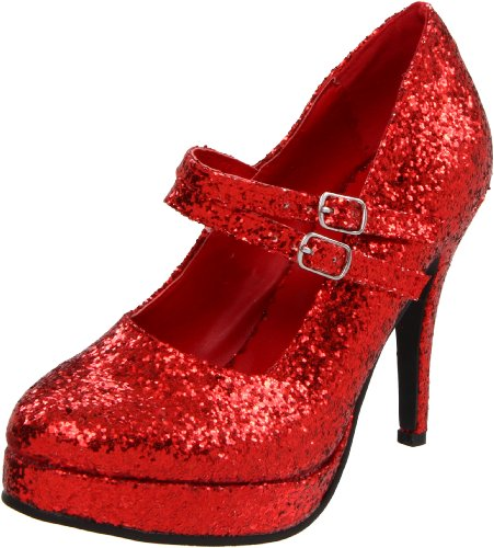 Ellie Shoes Women's 421-Jane-G Maryjane Pump,Red Glitter,6 M US