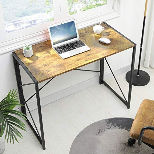 MSmask Schreibtisch Klapptisch Computertisch Einfacher Kleiner Tisch für das Home Office, platzsparend (Retro)