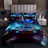 Erosebridal Racing Car Quilted Coverlet Queen Size Racing Game Coverlet Set Speed Car Bedding Set...