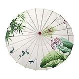 中国の絹の布の傘古典的なスタイルの装飾的な傘の油紙傘アート傘布布傘ツールツールセット、F