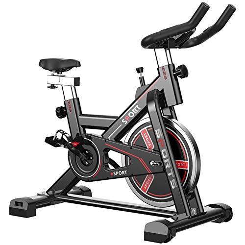 XWDQ Indoor Fietsen Oefening Bike, Direct Riem Gedreven Vliegwiel, Magnetische Weerstand, 3-delige Crank, Voor Thuis Cardio Gym Met Comfortabele Zitkussen, Druk op de rem