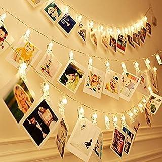 Miaro L4 40 LED foto Clips Cadena Boda Fiesta Navidad Interior Hogar Decoración Luces Blanco