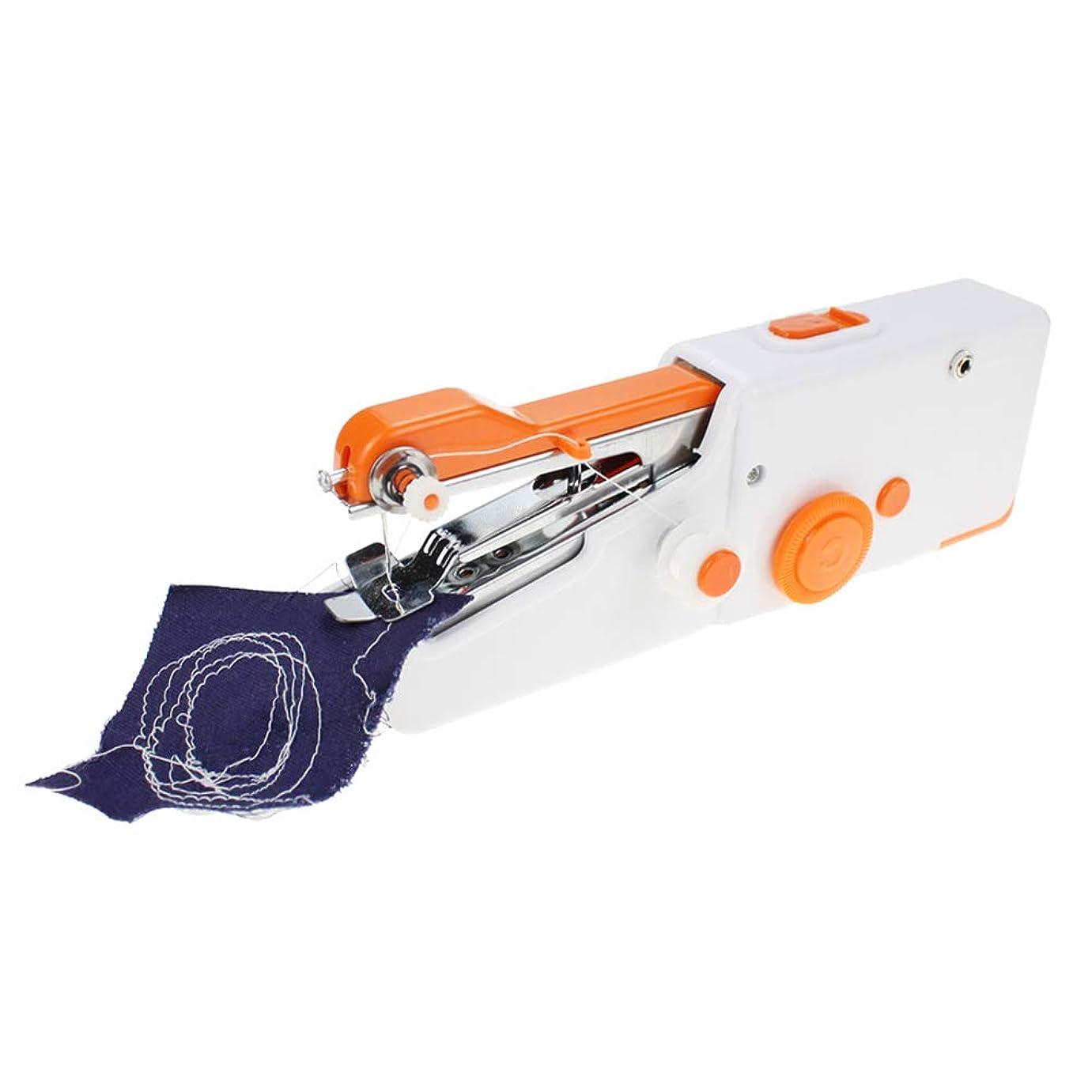 控える処方するそれによって4色ポータブルミニ手持ちミシン家庭用多機能ミニ電動ミシン orange