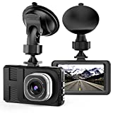 Dash Cam, Camera for Cars with Full HD 1080P 170 Degree Super Wide Angle Cameras, 3.0' TFT Display, WDR, G-Sensor, Loop Recording