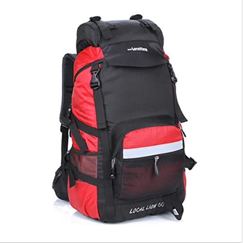 Igspfbjn Sacs à Dos de randonnée imperméable en Nylon Multi-usages Tour Camping Loisirs de Plein air Sports Prougeection de l'épaule Neutre est adapté pour Une Utilisation en extérieur (Couleur   rouge)