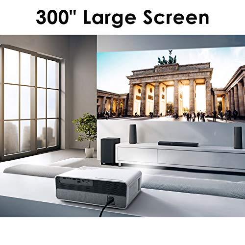 """Proyector,ELEPHAS 6800 lúmenes Proyector 1080P Nativo de Video HD, Pantalla de Imagen de hasta 300 """"Ideal para presentaciones empresariales PPT Home Theater Entretenimiento Fiestas Juegos"""