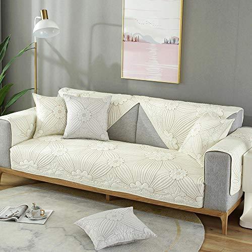 Homeen Cuarto del bebé Funda de sofá Impermeable,Protector de Protector de sofá de algodón Universal, Fundas de sofá de Nube China, Funda de cojín de sofá Acolchado de 4 Estaciones, Doble Cara dispon