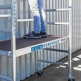 Échafaudage pliable en aluminium, plateforme sans trampoline, hauteur de travail 3 m