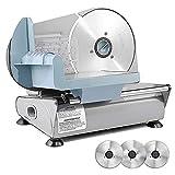 Sophinique Elektrischer Allesschneider, 3 bewegliche 7,5-Zoll Klinge einschließen, Geeignet für Käseschneidemaschine, Schnittstärke (0-15mm) Brotschneidemaschine