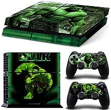 ZOOMHITSKINS PS4 Skin Decal Sticker Hulk Superhero Custom Design + 2 Controller Skins Set