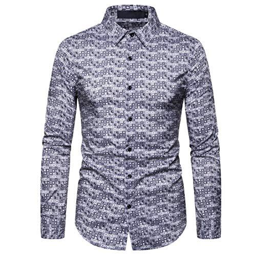 FULUN Camiseta básica elegante para hombre formal de negocios, oficina, boda, fiesta, Henley, camisa de polo para hombre, casual, de algodón, lino, ajustada, solapa con botones