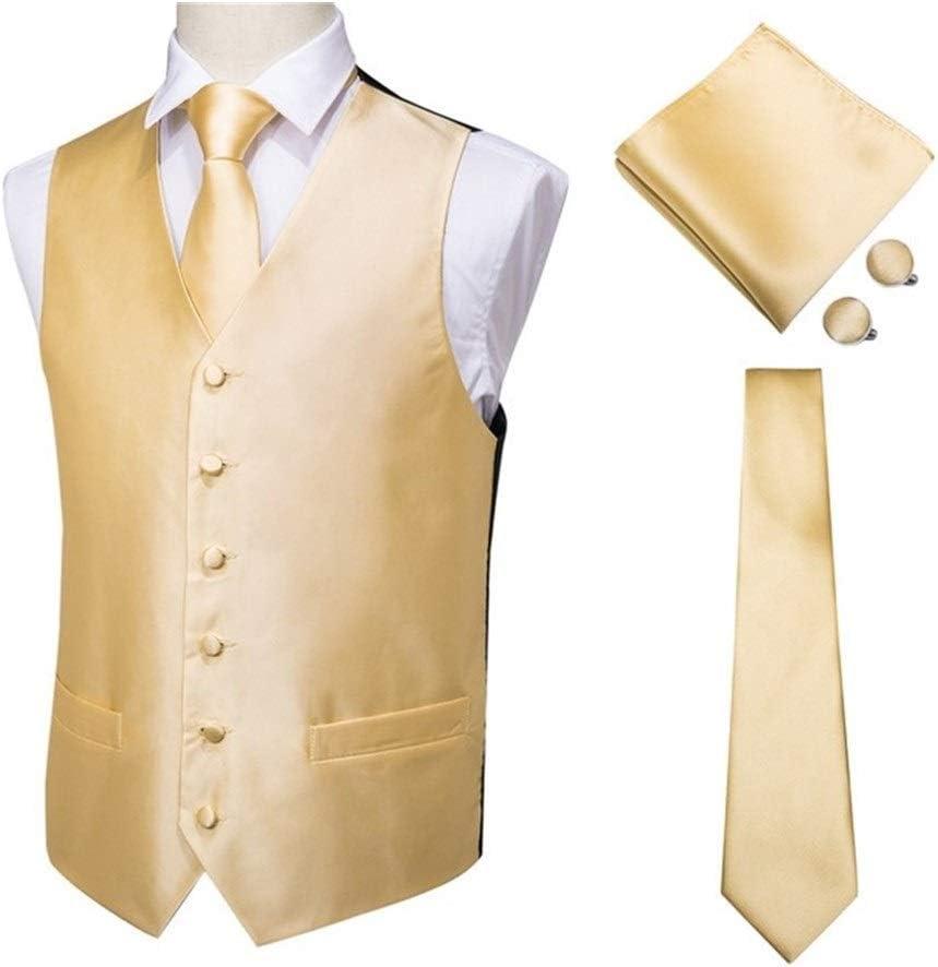 QWERBAM Silk Dress Vest Set for Men's Blue Dark Sui 2021 autumn and Dealing full price reduction winter new Jacquard Men