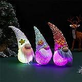 Ornamento di gnomo del coniglio della peluche di Pasqua 3PCs con l'uovo di Pasqua decorazioni della bambola senza volto del coniglietto seduta Ornamenti di casa con i regali del nano dell'elfo leggero
