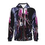Guilty Crown Youth Full Zip Jacket Pullover 3D Printing Sweatshirt Black 14-16 Years