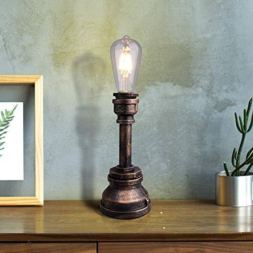 NICEAPR Lámpara de Escritorio Brown Country Retro Estilo Industrial lámpara de Mesa lámpara de pie de Hierro Forjado Creativo lámpara de Tubo de Agua lámpara de iluminación de la Sala de Estar