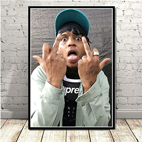 Jigsaw puzzle 1000 piece Ski plunged god rapper hip hop singer star art painting jigsaw puzzle 1000 piece art Skill game for the whole family, colorful placement game50x75cm(20x30inch)